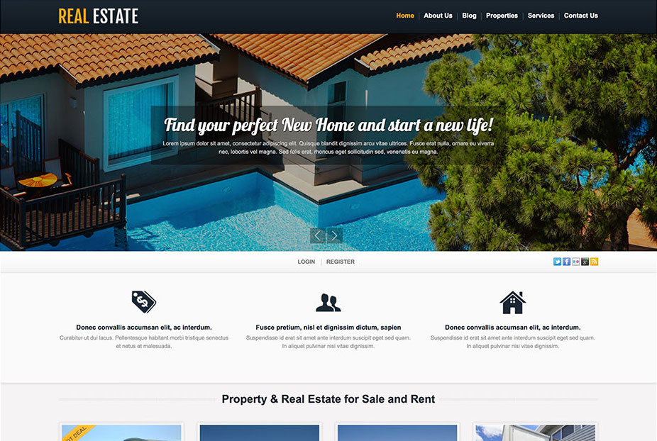 TM White Real Estate Theme