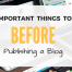 8 Important Things To Do Before Publishing a blog