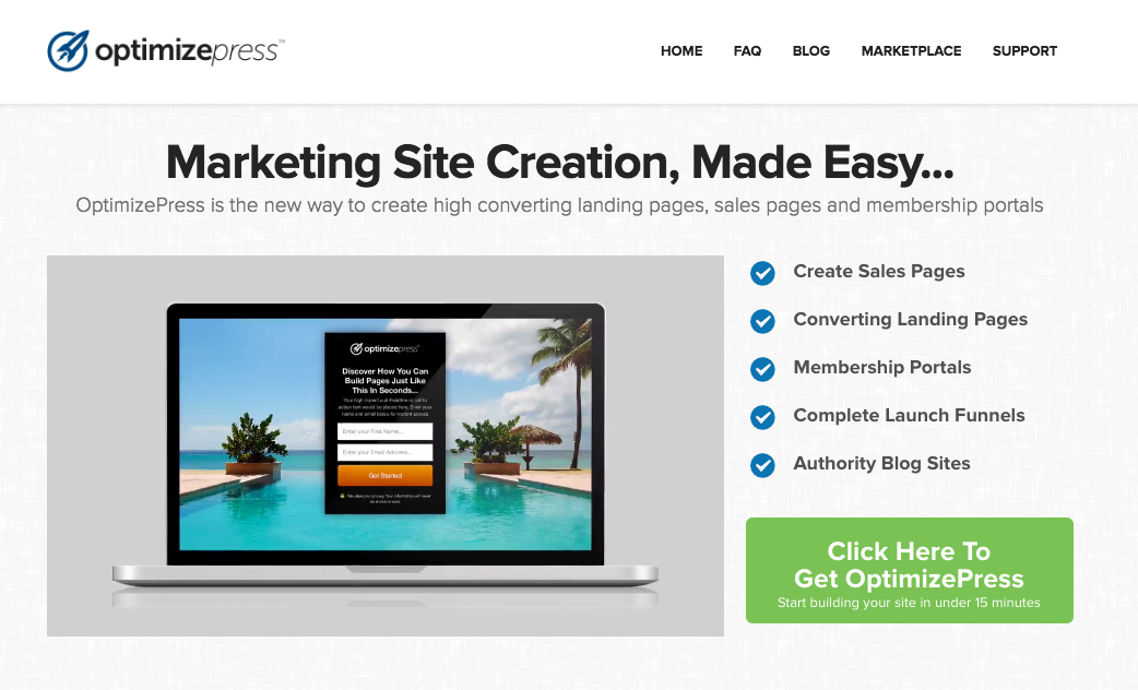 OptimizePress WordPress Plugin Creates Landing Pages